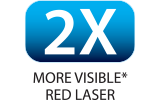 highly visible 635 nm red laser pointer
